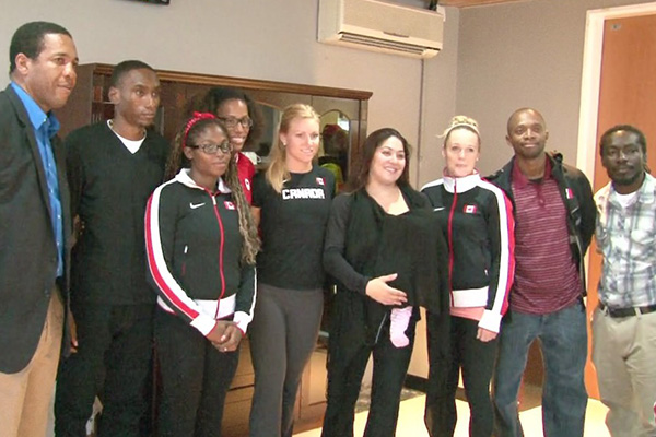 Canadian Athletes train in St. Kitts and Nevis