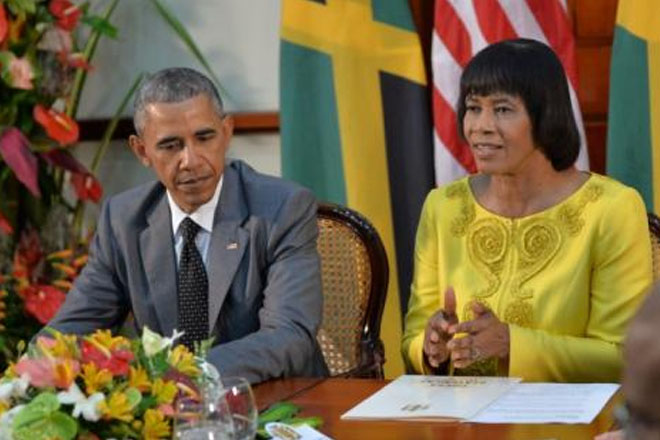 Energy, economy highlight bilateral talks between Jamaican PM and Obama