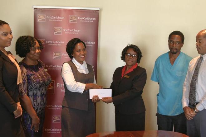 CIBC First Caribbean International Bank donates to Alexandra Hospital