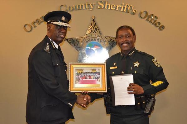PM Douglas Thanks Orange County Sheriff for Assistance