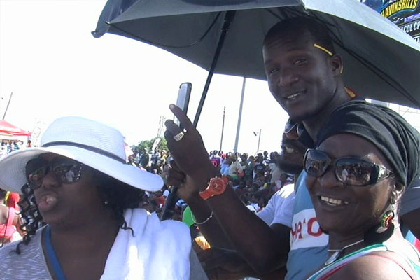CPL Players interact with SKN Fans