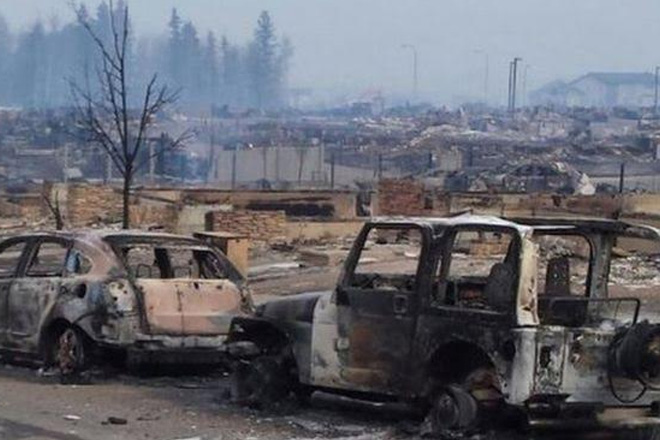Canada wildfire: Images show Fort McMurray devastation