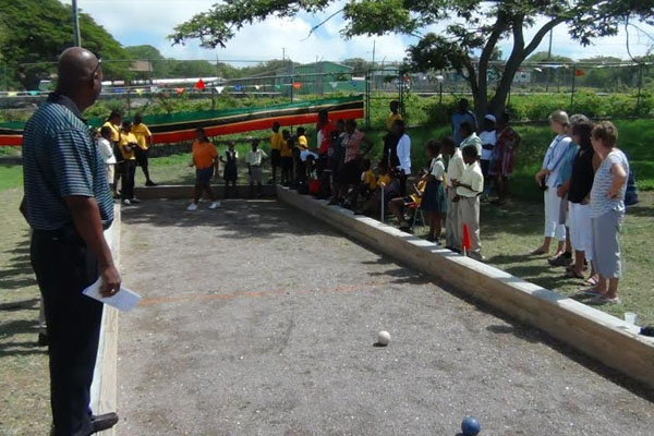 Bocce Court handed over at Cecely Browne Integrated School