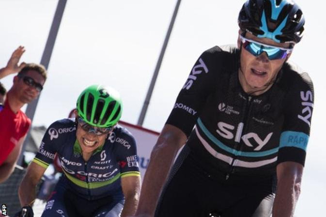 Vuelta a Espana: Gianni Meersman wins stage five as Chris Froome remains third