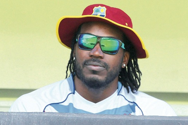 Gayle out of tomorrow's ODI