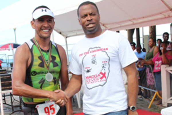 Nevis Sports Minister expresses satisfaction with first MaccaX Nevis International Triathlon