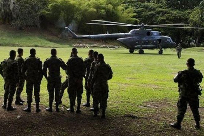 Colombia army helicopter crashes in Caldas, killing 17