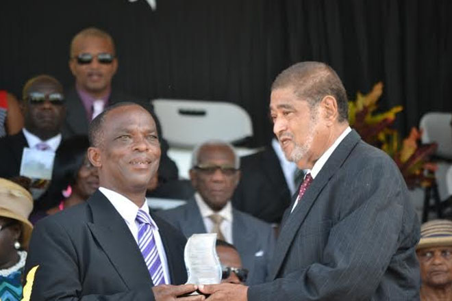 Premier of Nevis applauds Awardees during Independence Day Ceremony