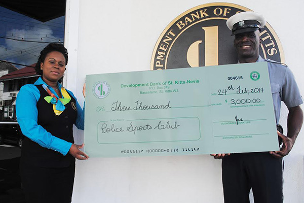 Development Bank donates to Police Sports Club