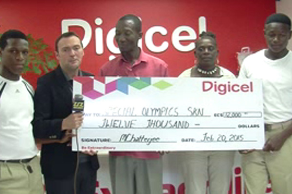 Digicel donates to Special Olympics Committee