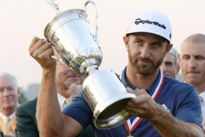 US Open 2016: Dustin Johnson wins first major amid farcical finish at Oakmont