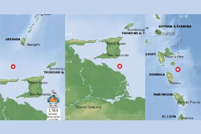 Three earthquakes in three days