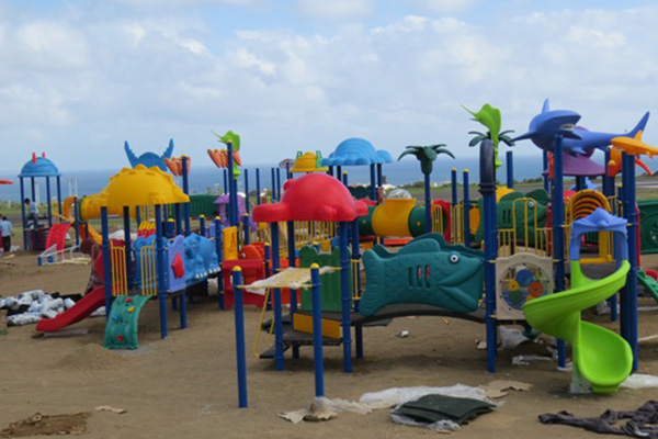 Family Park equipment being installed