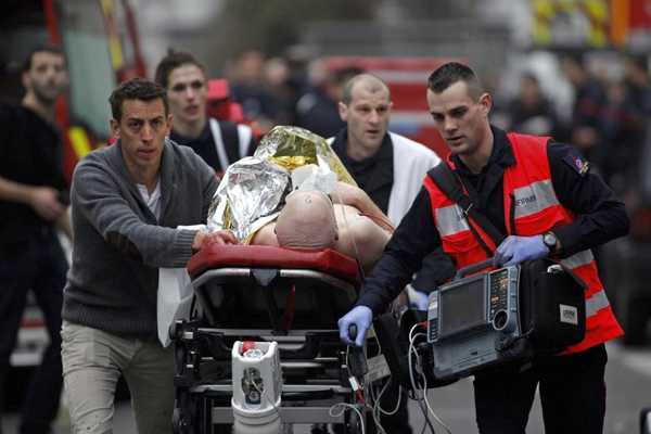 12 dead in attack on Paris newspaper