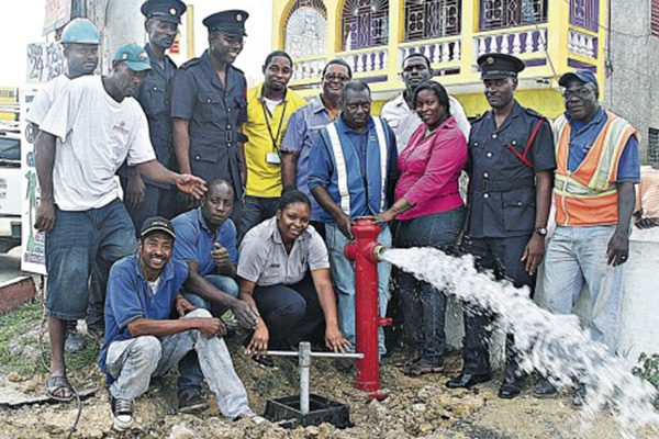 At last!… a fire hydrant for Green Island