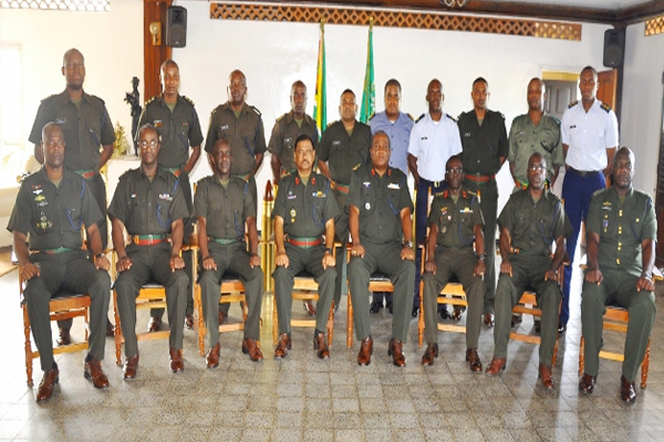 St. Kitts-Nevis Defence Force Capt. graduates from Guyana Course
