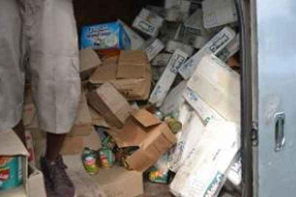 Guyana authorities seize expired goods being prepared for sale to consumers