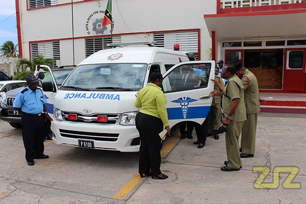New Ambulance handed over to Fire and Rescue Services