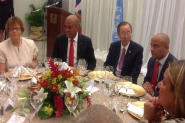 UN chief launches sanitation program in Haiti