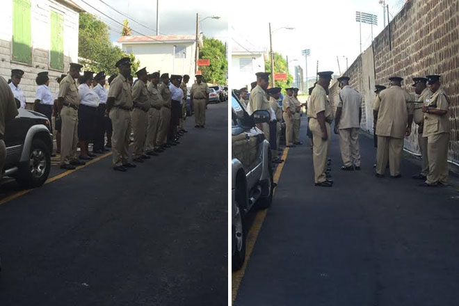 Prison parade and lecture enforces institution's disciplinary