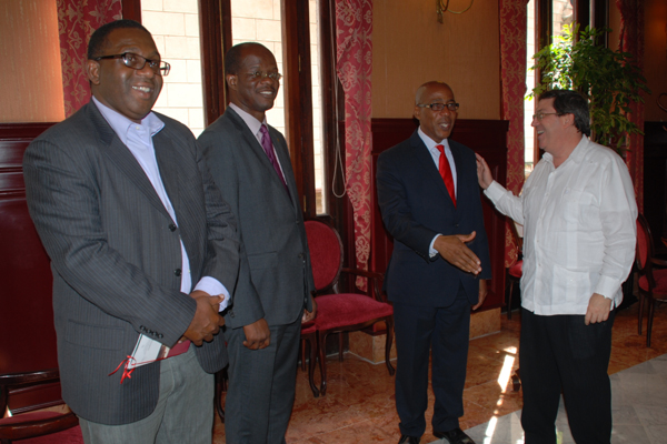 Dr the Hon Earl Asim Martin and his delegation met with His Excellency Mr. Bruno Rodriguez Parrilla