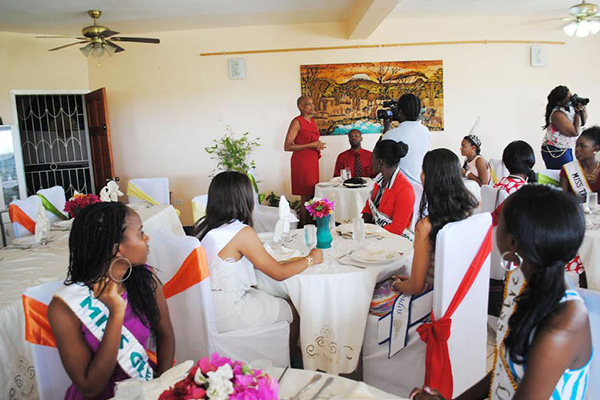 Hon Marcella Liburd bequeaths words of wisdom to Talented Teen Pageant contestants