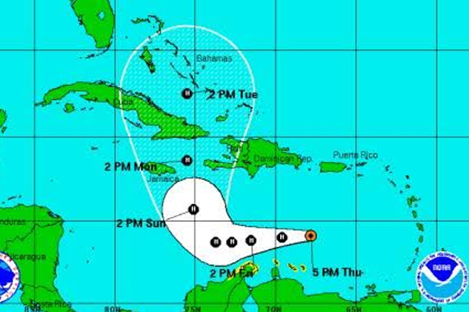 Matthew now a hurricane after leaving death and destruction in the Eastern Caribbean