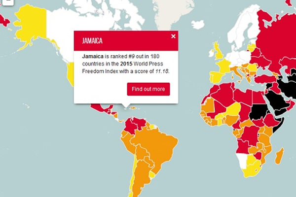 Jamaica makes top 10 in media freedom worldwide