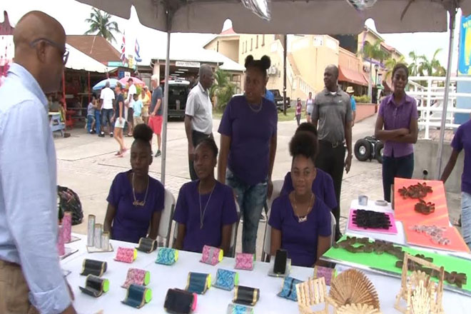 Youth show creative products at Junior Achievement Trade Fair