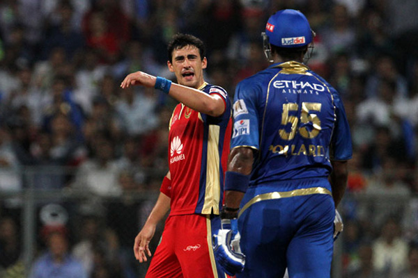 Pollard in showdown as Mumbai beat RCB