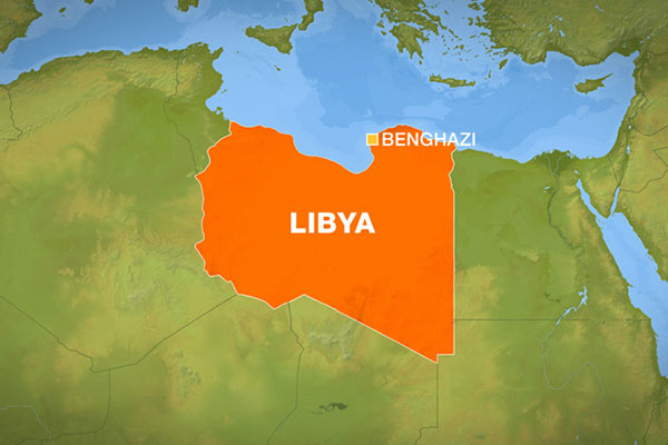 At least 10 killed in car bombing at Libyan military base