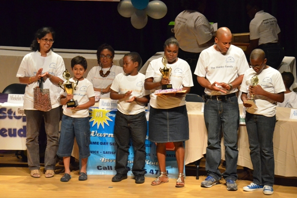 Montessori Academy student and parent win Warner's One Stop Family Book Feud
