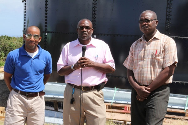CDB Water Enhancement Project completes second tank; Civil works slated for April