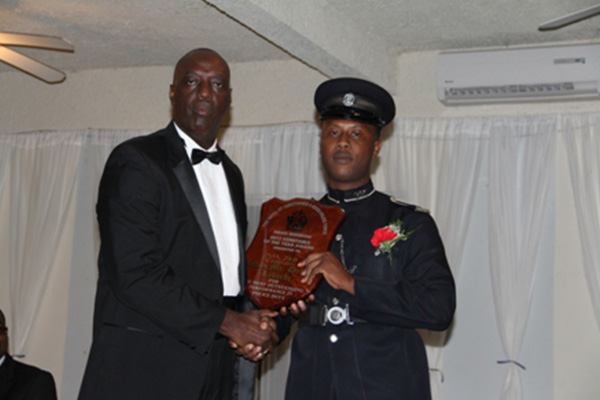 Constable Rohan Laborde wins Constable of the Year 2013 Award on Nevis