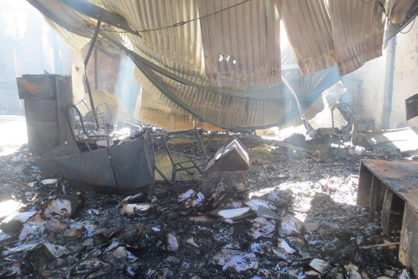 Nevisians wake up to early morning fire