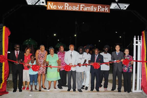 Douglas lauds Marcella Liburd as New Road Family Park opens