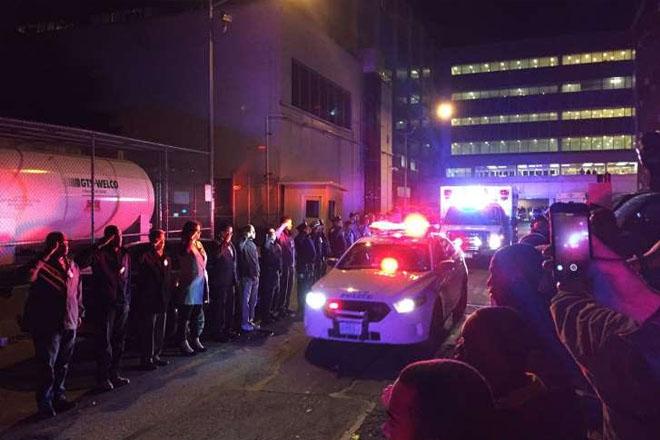New York City police officer shot in head, killed during gun battle