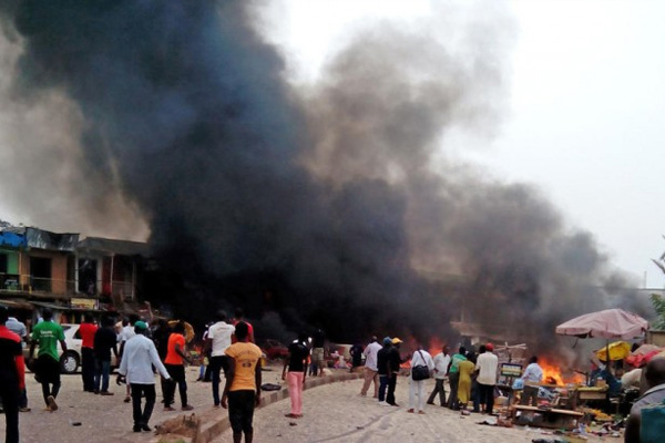 Blast at Nigerian soccer viewing center kills men, young boys