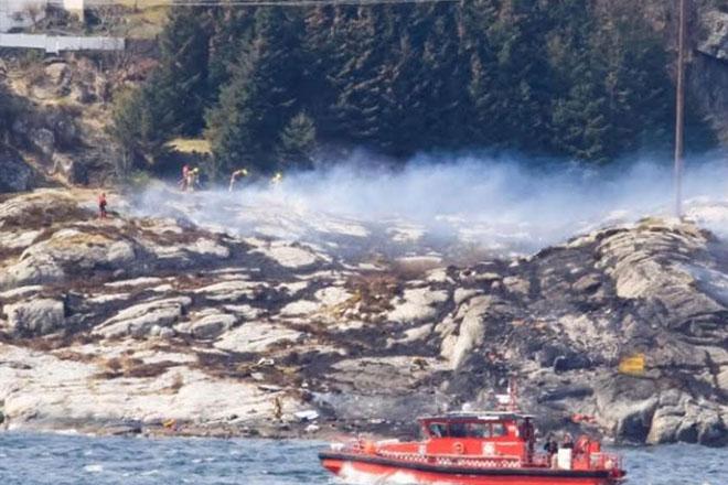 Norway helicopter crash: 13 killed near Bergen
