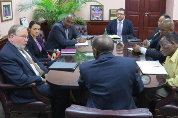 OAS Observer Team pays courtesy call on Prime Minister Douglas