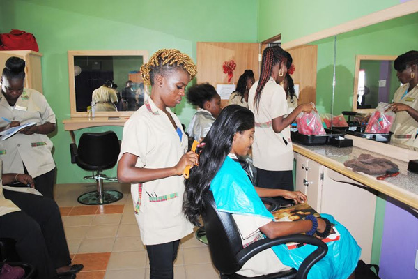 PEP Cosmetology trainees ready for actual clients