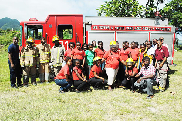 PEP Firemen demonstrate their skills to PEP hospitality trainees