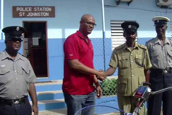 Donation to Police Station