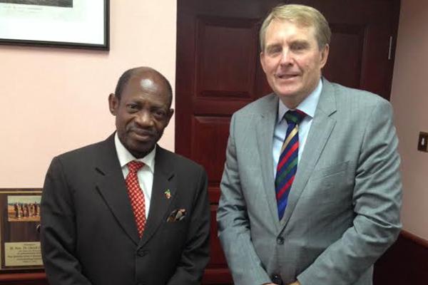Prime Minister Douglas and Australian High Commissioner hold talks