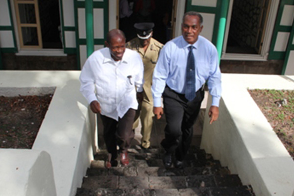 Prime Minister Douglas recommits assistance to Nevis after Treasury Building fire