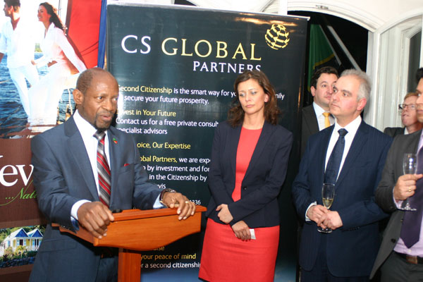 PM Douglas tells businessmen in the United Kingdom, St. Kitts and Nevis open to business