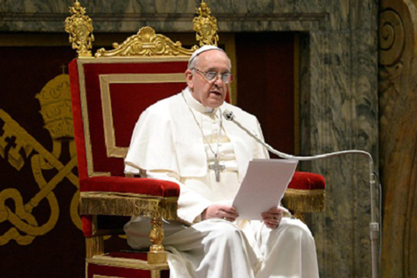 Pope says no to legalizing recreational drugs
