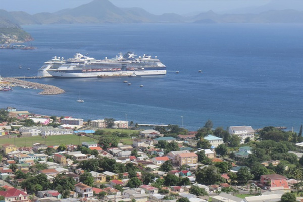 Over 4,000 cruise passengers visited St. Kitts on Monday