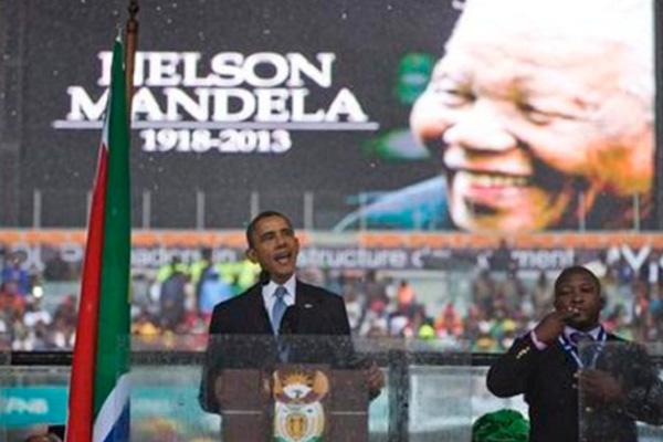 Obama thrills crowd at Mandela memorial