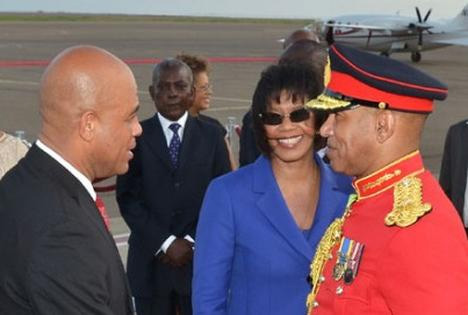Haitian president arrives in Jamaica for three-day state visit